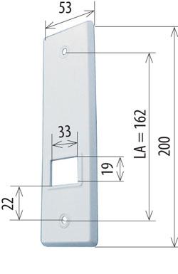 abdeckplatte f r gurtwickler 5 m verstellbar la 165 mm. Black Bedroom Furniture Sets. Home Design Ideas