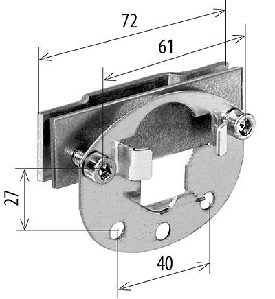 Rohrmotor Rollladen Aufstecklager Klemmlager für Altbaukasten Altbau